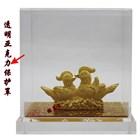 Souvenir Pernikahan Sepasang Yuanyang(Bebek) Lapisan Emas 2