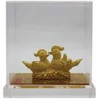 Souvenir Pernikahan Sepasang Yuanyang(Bebek) Lapisan Emas 11
