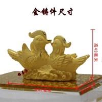 Souvenir Pernikahan Sepasang Yuanyang(Bebek) Lapisan Emas Murah 5