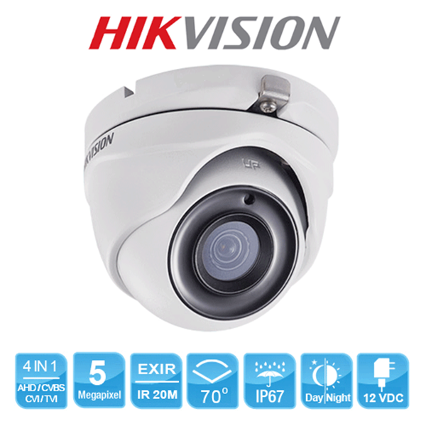 CCTV Turbo HD Dome Hikvision 2MP Steel