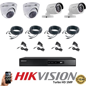 Paket 4 CCTV TurboHD 1MP