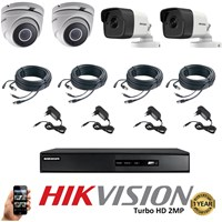 Paket 4 CCTV TurboHD 2MP