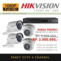 Paket Kamera CCTV 4 pcs TurboHD 2MP