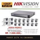 Paket Kamera CCTV 16 pcs TurboHD 2MP 1