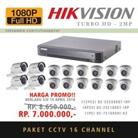 Paket Kamera CCTV 16 pcs TurboHD 2MP 1