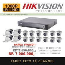 Paket Kamera CCTV 16 pcs TurboHD 2MP