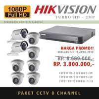 PAKET KAMERA CCTV 8 pcs TurboHD 2MP (TANPA PEMASANGAN)