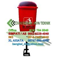 Tong Sampah Fiber 1 Tiang -  Managemen Limbah  1