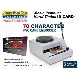 Dari Mesin Emboss Id Kartu Alat Alat Id Card Cetak Huruf Angka Timbul 1