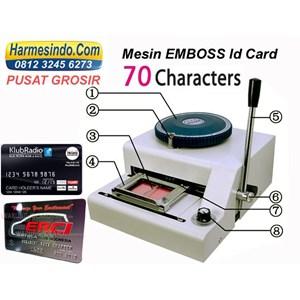 Dari Mesin Emboss Id Kartu Alat Alat Id Card Cetak Huruf Angka Timbul 2