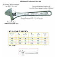 Jual Adjustable Wrench OSTEQ