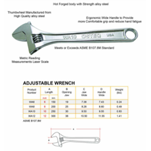 Adjustable Wrench OSTEQ