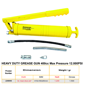 Heavy Duty Grease Gun 400cc