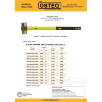 Palu Brass Hammer OSTEQ 1