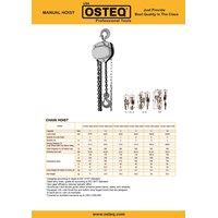 Jual Chain Hoists (OSTEQ)