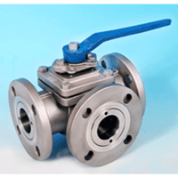 3 Way Flange Ball Valve