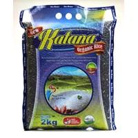 Jual Beras Organik Katana Black Rice Pecah Kulit 2Kg