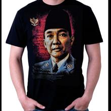 Kaos Sablon Presiden Soekarno