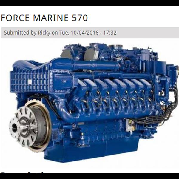Oli Pelumas Kapal Force Marine 570