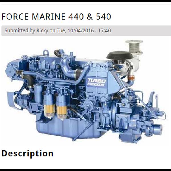 Oli Pelumas Kapal Force Marine 440 Dan 540