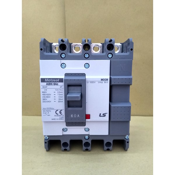 MCCB (Molded Case Circuit Breaker) LS ABN 64C 4 P 60A