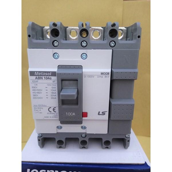 MCCB (Molded Case Circuit Breaker) LS ABN 104C 4 P 100A