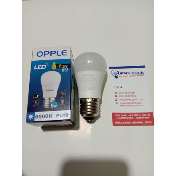 Lampu led bulb opple 5 watt e27 cool daylight