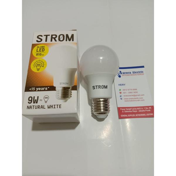 lampu led bulb Storm 9 watt 4000k natural white e27