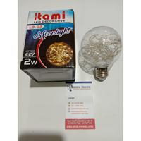 Lampu Hias lampu decorative lampu tidur 2 watt Warm White Itami Bulat