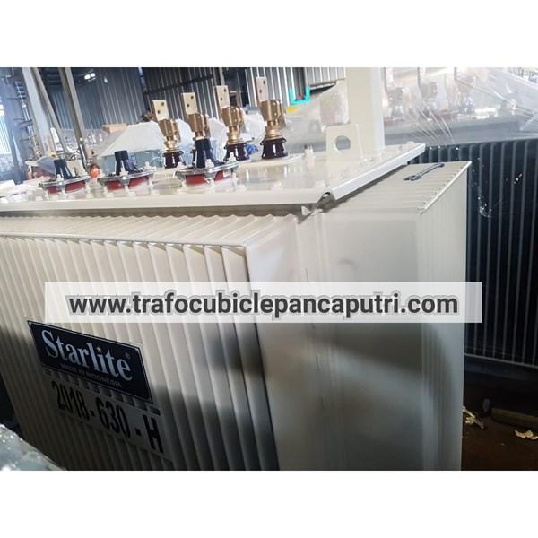 Trafo Distribusi 630 Kva 3 phase 20 Kv - 400 Volt Dyn-5 Merk Starlite