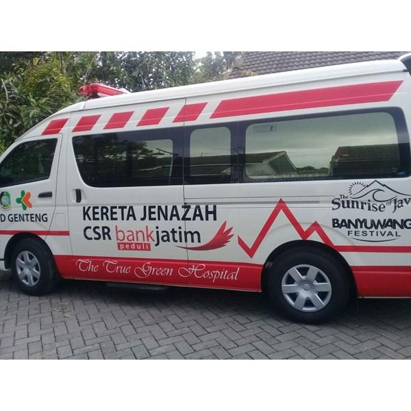 Modifikasi Ambulance jenazah hiace Bank Jatim RSUD Genteng banyuwangi