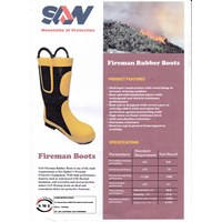 Sepatu Safety Fireman Boots