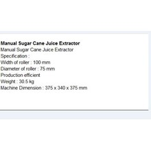 Juicer Industri Manual Sugar Cane Juice Extractor