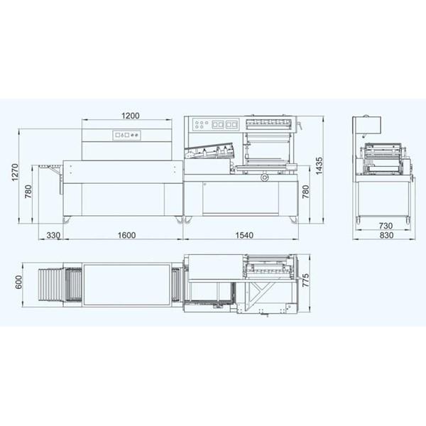 Mesin Thermal Shrink Dan L Bar Sealer Otomatis Model : BMD-450C & BS-400LA