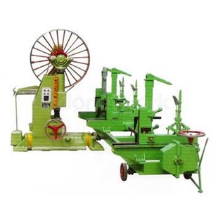Log Wood Cutting Bandsaw Mills With Feed Carriage
