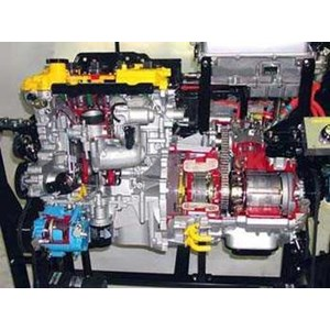 Alat Peraga Trainer Mesin Cutting Engine Sectioned