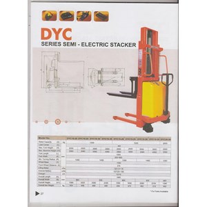Hand Stacker Semi Electric DYC 1535