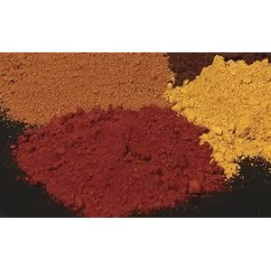 Iron Oxide red yellow brown