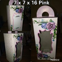 Kotak Souvenir Ukuran 7 x 7 x 16 Pink