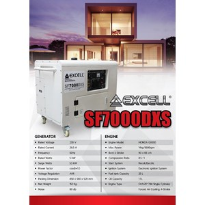 sell genset silent honda excell from indonesia by cv agromesin