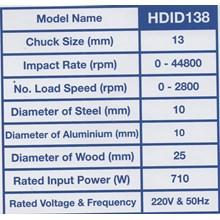Mesin Bor Tangan Impact Drill HDID138
