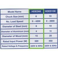 Mesin Bor Tangan Hyundai Elektrik HDED68