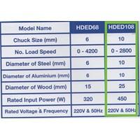 Mesin Bor Tangan Elektrik Hyundai HDED108
