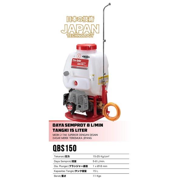Knapsack Proquip QBS150 15 liter daya semprot 8l/menit 2 tak