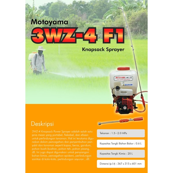 Alat Semprot Pertanian 3WZ-4 F1 Motoyama