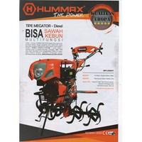 Cultivator Hummax Megator untuk sawah dan kebun Electric Starter