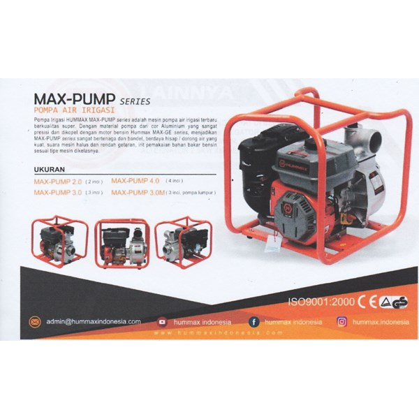 Pompa Air Hummax MAX-PUMP 3.0 INCHI