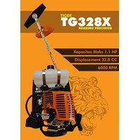 Mesin Potong Rumput Gendong Tiger TG328X