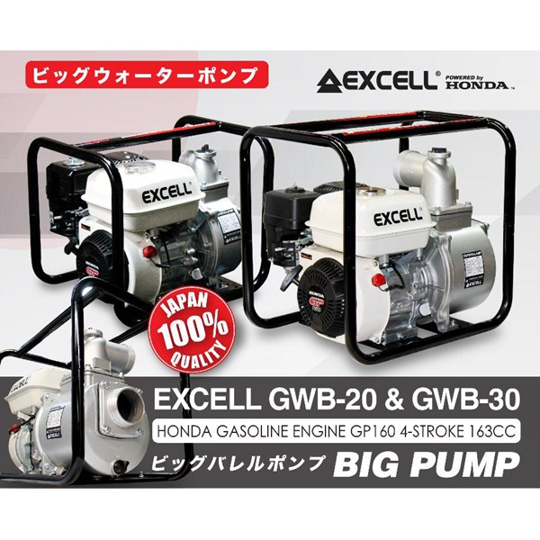 Pompa Air Honda Excell Series GWB20 & GWB30