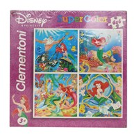 Mainan Edukasi Puzzle 4 X 6 La Sirenetta The Little Mermaid